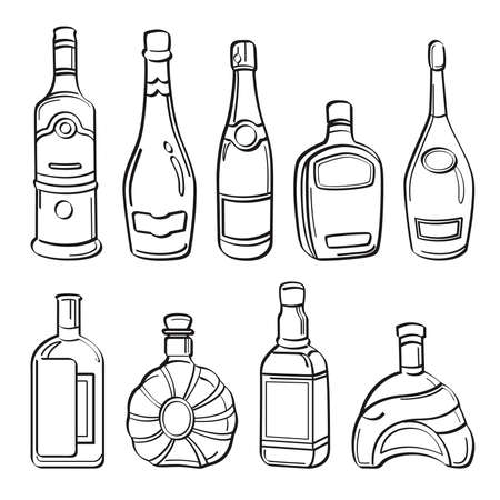 vodka: Alcohol Bottles Collection