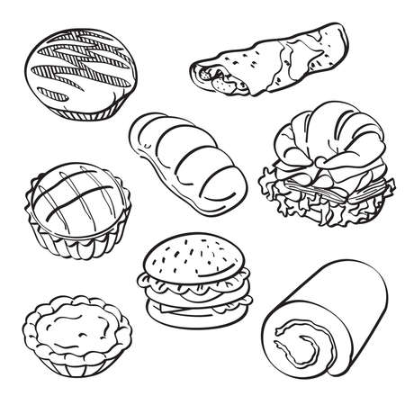Bread and cake Collection Vector