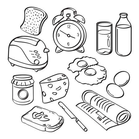 butter knife: Breakfast Collection Illustration