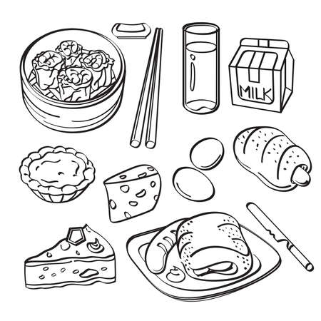sum: Breakfast Collection Illustration