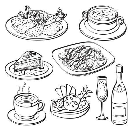 shrimp cocktail: Dinner Set Collection