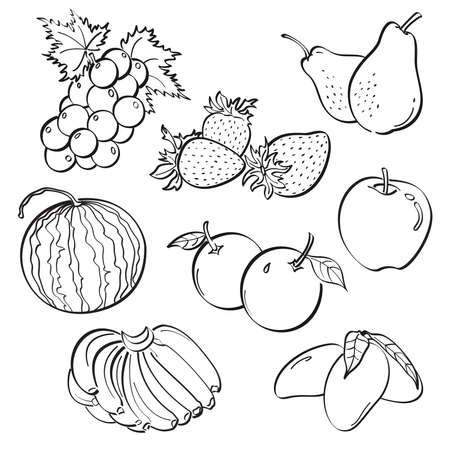 Fruit Set Ilustracja