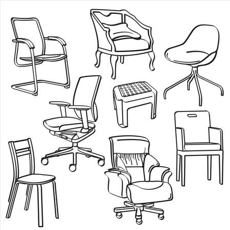 bar stool: Chairs Collection Illustration