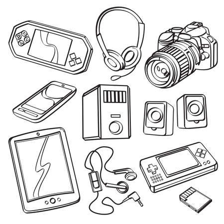 Digital Products Collection Vector