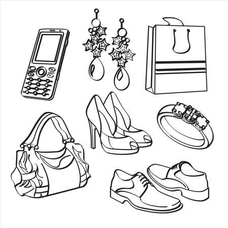 consumer goods: Shopping Set and Consumer Goods Collection