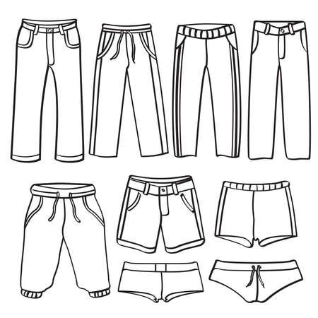black pants: Men's Pants