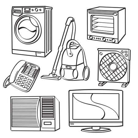 Home Electric Appliances Vector