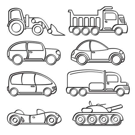 Vervoer Speelgoed Collectie Vector Illustratie