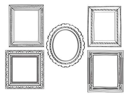 Elegant Ornate frames Ilustracja