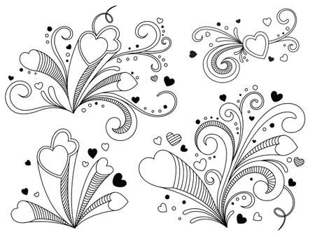 Ornate heart Vector