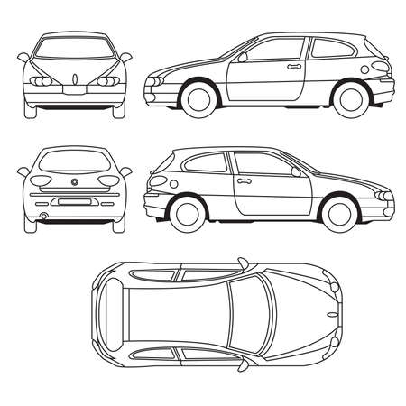 car side view: Transportation Vehicle Illustration