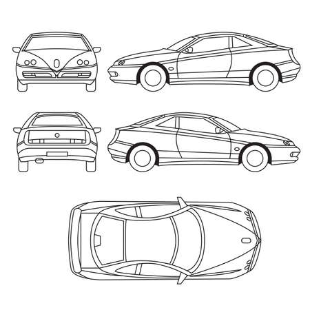 outlines: Transportation Vehicle Illustration