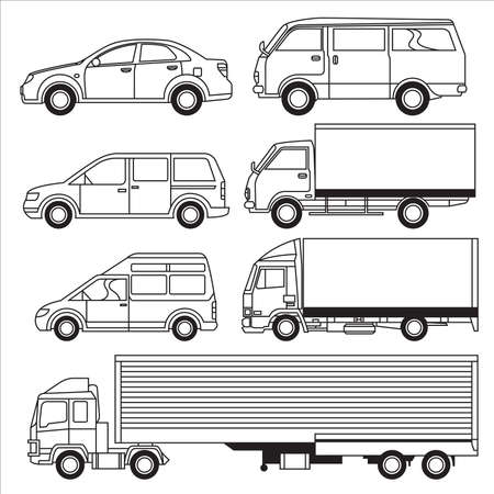 Transportation Vehicle Vectores