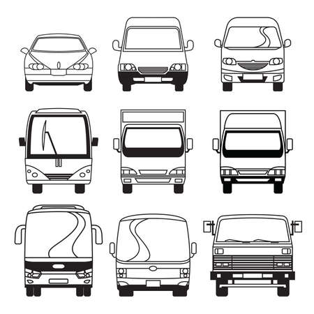 camión cisterna: Transporte Colección de Vehículos Vectores