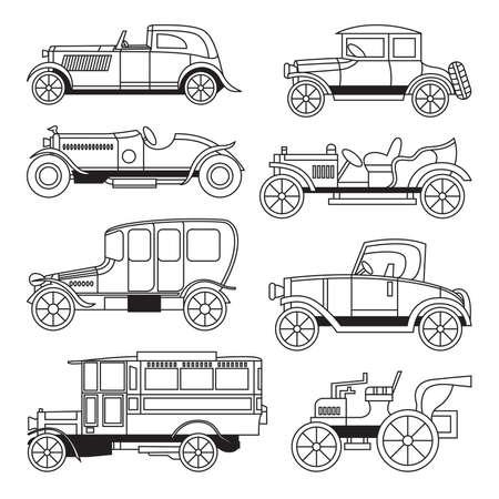 Transportation Vehicle   65288;Antique Cars  Vector