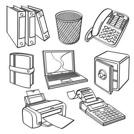 Office equipment Collection Vector