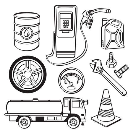 traffic cone: Oil industry Icon Set