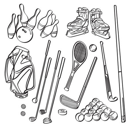Sports Equipment Collections Vector