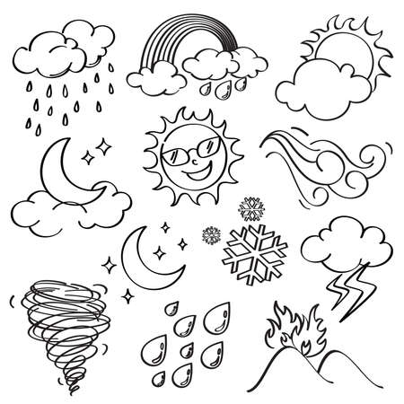 sun clipart: Weather Icons Collection