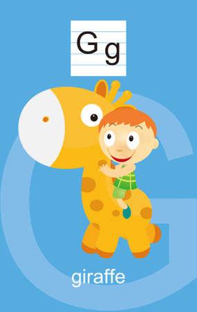 g giraffe: Character G Cartoons