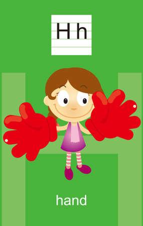 noun: Character H Cartoons Illustration