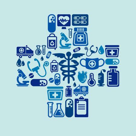 cross shape: Medical Icons in Cross Shape