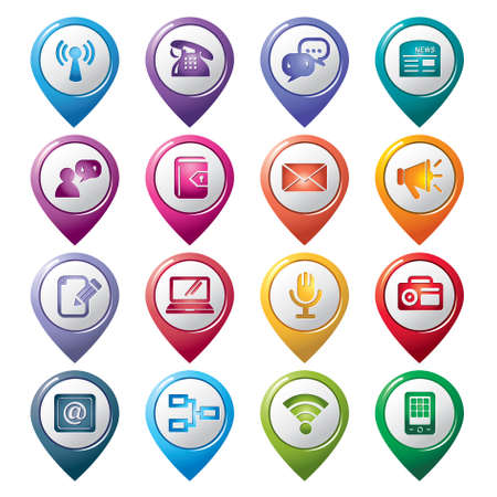 Communication Pointer Icons01 Vector