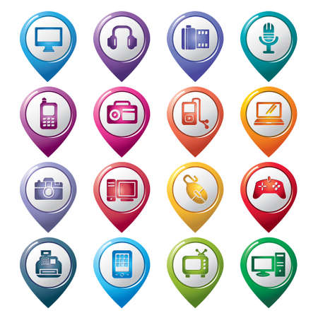 personal data assistant: Digital Products Pointer Icons