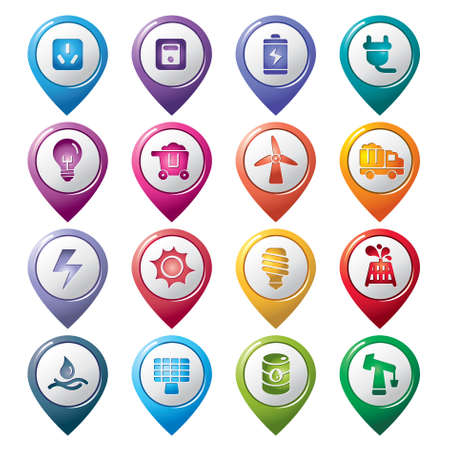 Energy Pointer Icons Vector
