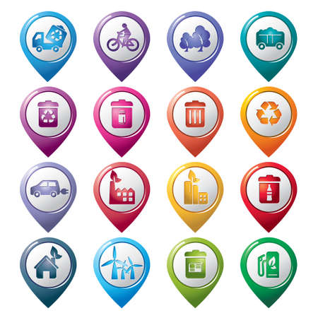 Environmental Protection Pointer Icons Vector