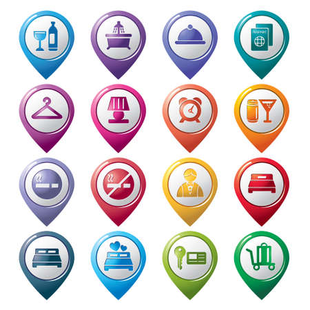 Hotel Pointer Icons Vector
