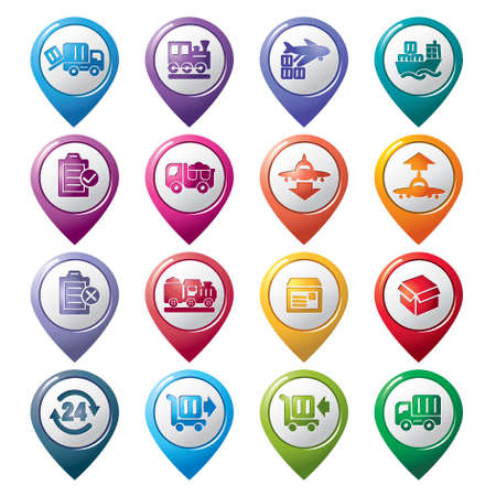 Logistics and Transport Pointer Icons Vector