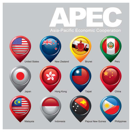 Members of the APEC - Part TWO Stock Illustratie