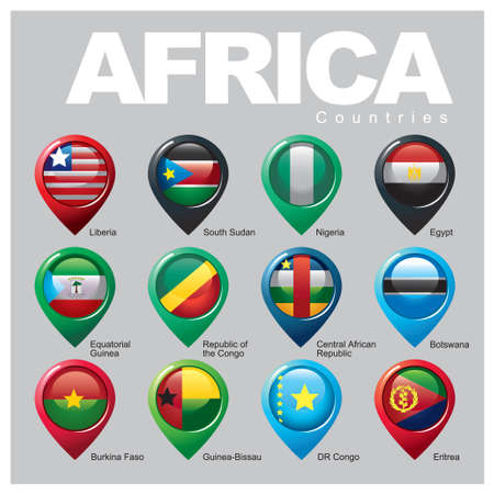 AFRICA Countries - Part FOUR Vector