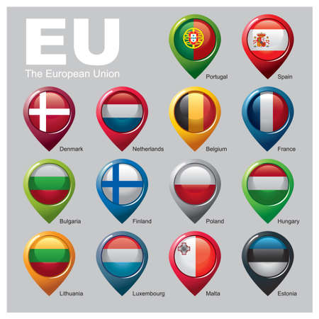 Members of the European Union - Part TWO Vector