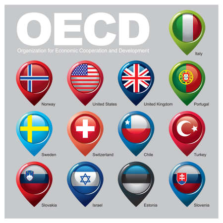 Organization for Economic Cooperation and Development Members - Part ONE Vector