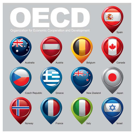 Organization for Economic Cooperation and Development Members - Part THREE Zdjęcie Seryjne - 30520416
