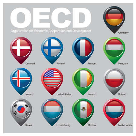 Organization for Economic Cooperation and Development Members - Part TWO Vector