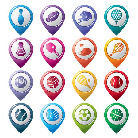 Sport Pointer Icons Vector