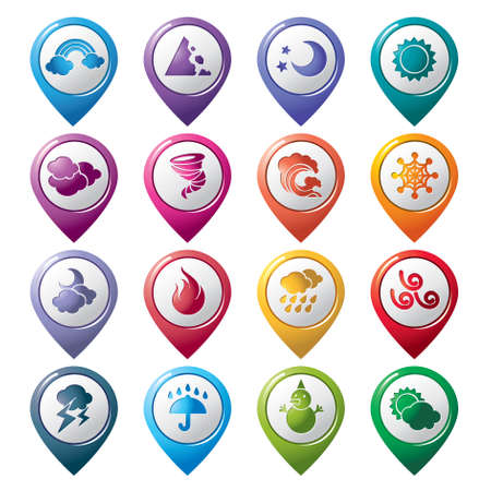 Weather Pointer Icons Vector