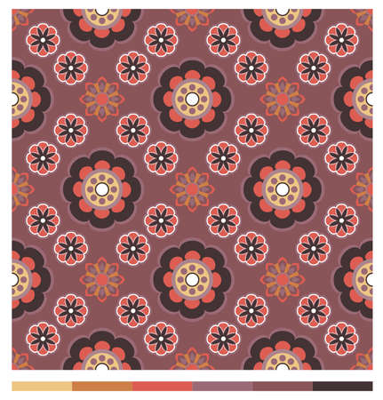 Seamless wallpaper patterns - floral series Vector