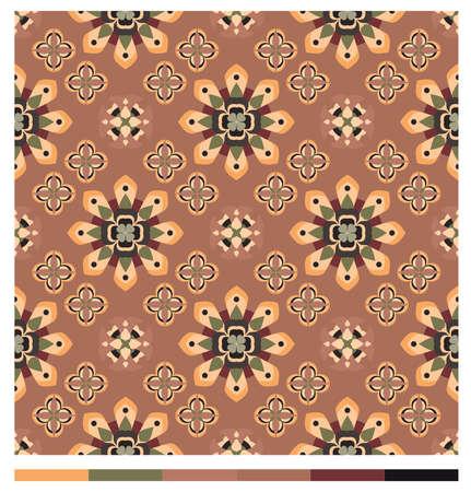 Seamless wallpaper patterns - floral series Vector