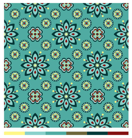 light brown background: Seamless wallpaper patterns Illustration