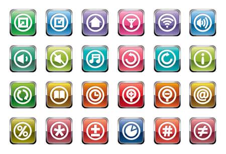 tablero de control: Los iconos del Panel de control Vectores