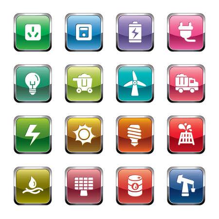 battery icon: Energy Icons Illustration