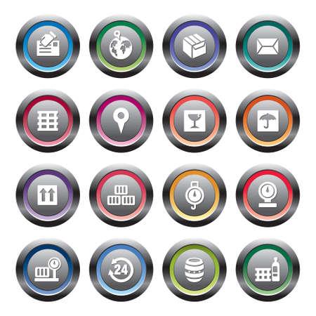 coordinates: Logistics and Transport Icons