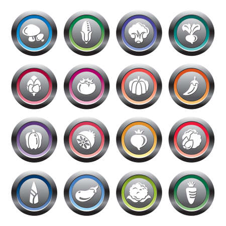 button mushroom: Vegetables Icons