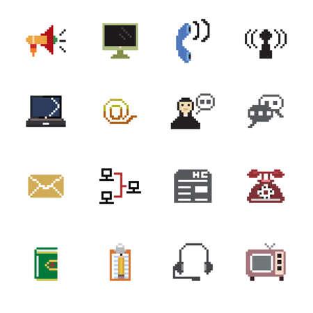 communication icons: Communication Pixel Icons