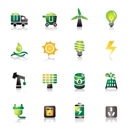 Energy Colorful Icons Vector