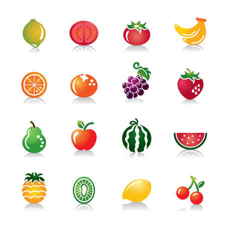 cherry tomato: Fruits Colorful Icons